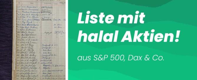 Halal Aktien - Liste